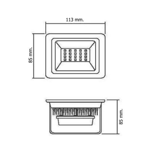 สปอร์ตไลท์ LED 10W (เดย์ไลท์) GATA