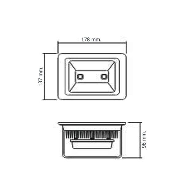 สปอร์ตไลท์ LED 20W (เดย์ไลท์) GATA