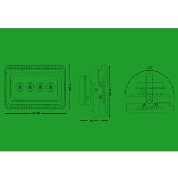 สปอร์ตไลท์ LED 200W (เดยไลท์) BIOBULB