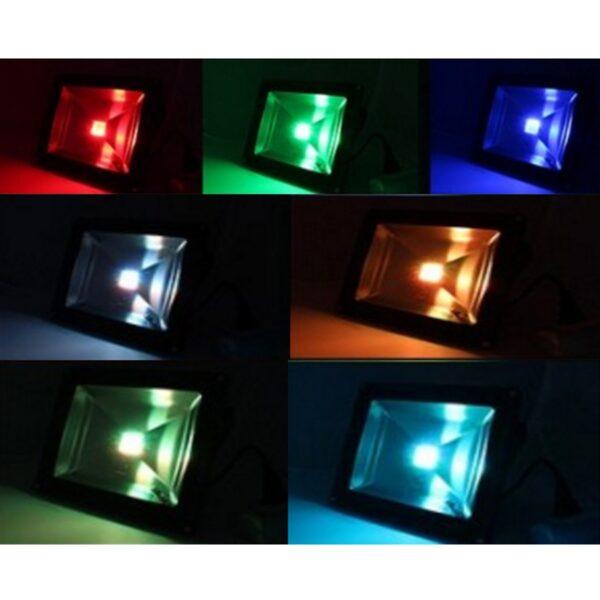 สปอร์ตไลท์ LED 20w RGB GE1001 สลับสีพร้อมรีโมท IWACHI