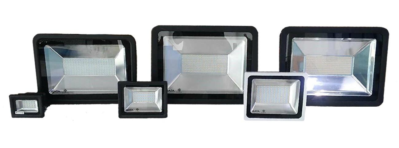 สปอร์ตไลท์ LED 50W (วอร์มไวท์) Body สีขาว GATA