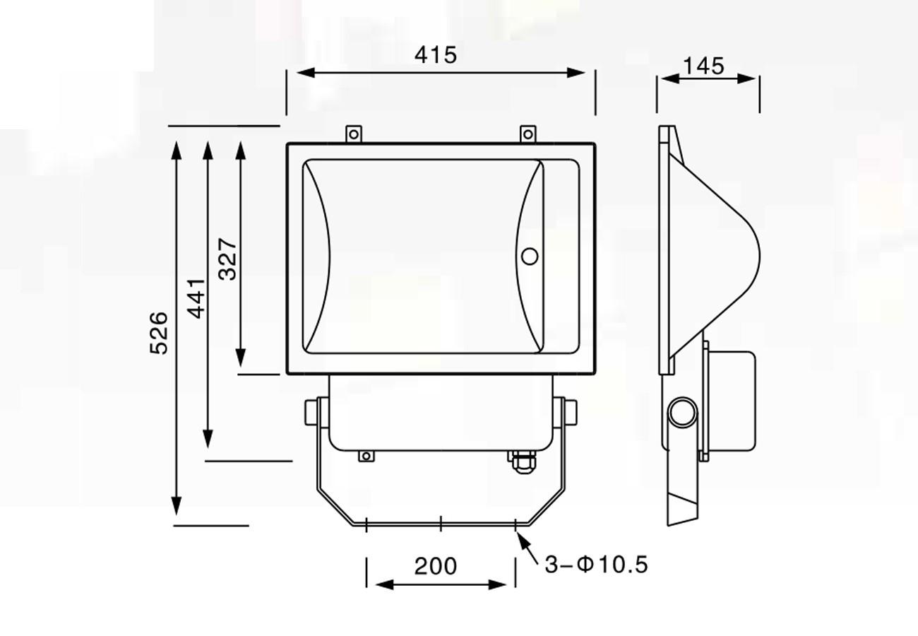 โคมเมทัลฮาไลด์ 400w CR 129 (แสงขาว) CROSS