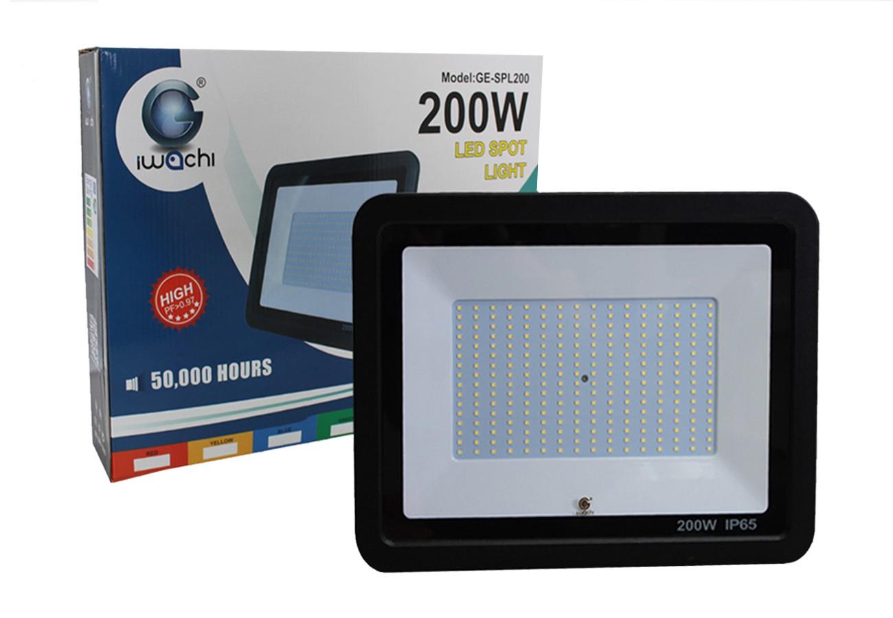สปอร์ตไลท์ LED 200w SMD รุ่นบาง (เดย์ไลท์) IWACHI