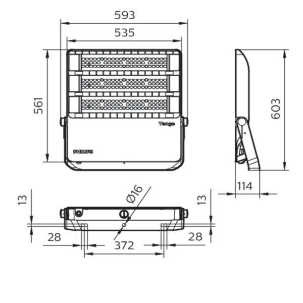 สปอร์ตไลท์ LED Philips BVP383 240w (CW)