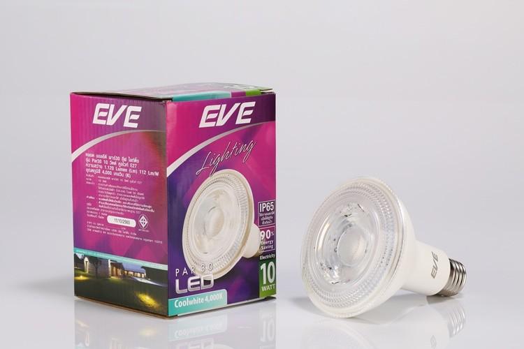 หลอด LED Par30 ขั้วE27 ขนาด 10w ยี่ห้อ EVE (เดย์ไลท์)