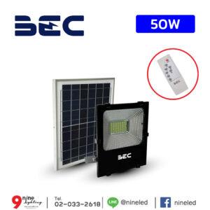 ไฟสปอร์ตไลท์ LED โซล่าเซลล์ 50W BEC CHEETAH