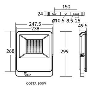 Dimension COSTA 100w
