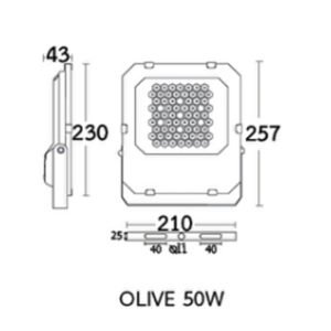 Dimension OLIVE 50W